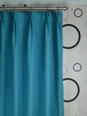 Extra Wide Hudson Cotton Blend Solid Double Pinch Pleat Curtains
