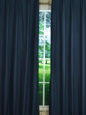 Hudson Cotton Blend Solid Custom Made Curtains