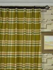 Extra Wide Hudson Cotton Blend Large Plaid Versatile Pleat Curtains