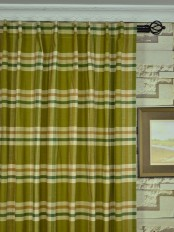 Extra Wide Hudson Cotton Blend Large Plaid Back Tab Curtains