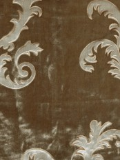 Hebe Mid-scale Scrolls Velvet Custom Made Curtains
