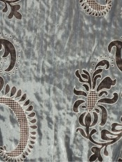 Hebe Traditional Damask Velvet Custom Made Curtains