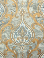 Maia Impressive Damask Velvet Custom Made Curtains