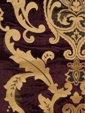 Maia Classic Damask Velvet Custom Made Curtains (Color: Byzantium)