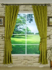 Silver Beach Embroidered Chinese-inspired Versatile Pleat Faux Silk Curtains