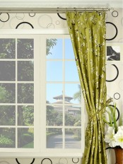 Halo Embroidered Four-leaf Clovers Triple Pinch Pleat Dupioni Silk Curtains