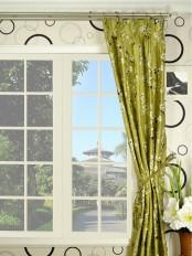 Halo Embroidered Four-leaf Clovers Triple Pinch Pleat Dupioni Silk Curtain
