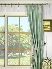 Halo Embroidered Dragonflies Triple Pinch Pleat Dupioni Silk Curtains