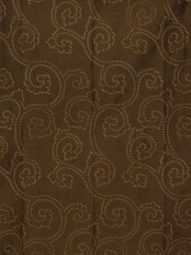 Halo Embroidered Scroll Damask Dupioni Silk Fabrics
