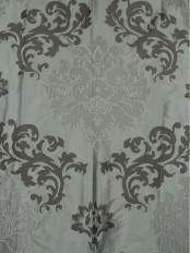 Rainbow Embroidered Classic Damask Dupioni Custom Made Curtains