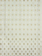 Rainbow Embroidered Lozenge-shaped Dupioni Silk Custom Made Curtains (Color: Beige)