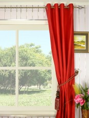 Oasis Solid-color Grommet Dupioni Silk Curtains