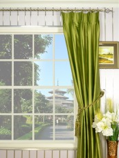 Oasis Crisp Plain Double Pinch Pleat Dupioni Silk Curtains