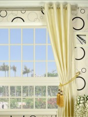 Oasis Traditional Solid Grommet 100% Dupioni Silk Curtains