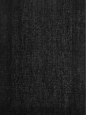 QYK246SB Eos Linen Gray Black Solid Custom Made Sheer Curtains (Color: Black)