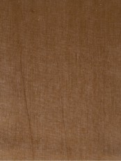 QYK246SF Eos Linen Brown Solid Custom Made Sheer Curtains (Color: Russet)