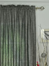 QYK246SGE Eos Linen Multi Color Solid Rod Pocket Sheer Curtain