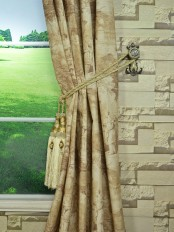 Eos Ancient Life Printed Faux Linen Custom Made Curtains