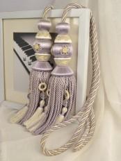 7 Colors QYM16 Faux Silk Curtain Tassel Tiebacks - Pair