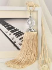 5 Colors QYM21 Polyester and Acrylic Curtain Tassel Tiebacks - Pair
