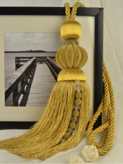 7 Colors QYM34 Polyester and Acrylic Curtain Tassel Tiebacks - Pair