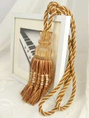5 Colors QYM38 Polyester and Acrylic Curtain Tassel Tiebacks - Pair