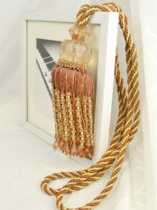 5 Colors QYM39 Polyester and Acrylic Curtain Tassel Tiebacks - Pair