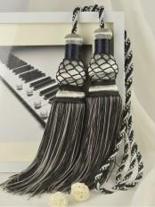 10 Colors QYM46 Polyester Curtain Tassel Tiebacks - Pair