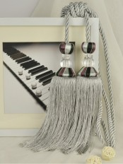 7 Colors QYM52 Polyester and Acrylic Curtain Tassel Tiebacks - Pair