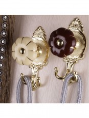 2 Colors QYM68 Round Pumpkin Curtain Tieback Holdbacks - Pair