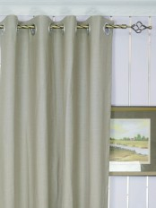 Modern Solid Cotton Blend Blackout Grommet Ready Made Curtain Heading Style