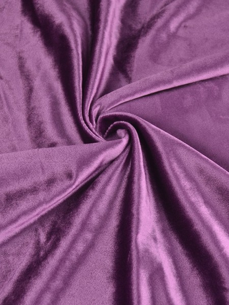 63 Inch 96 Inch Whitney Pink Red and Purple Blackout Grommet Velvet Curtains (Color: Byzantium)