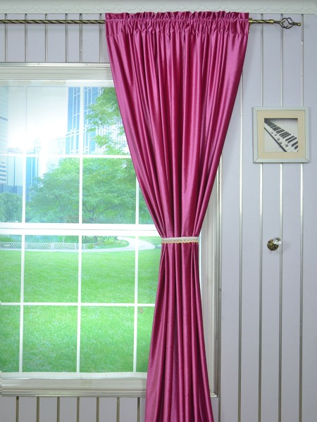 63 Inch 96 Inch Whitney Pink Red and Purple Blackout Grommet Velvet Curtains Rod Pocket Heading