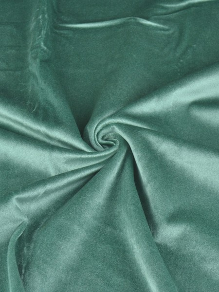 63 Inch 96 Inch Whitney Green and Blue Solid Blackout Grommet Velvet Curtains (Color: Cambridge Blue)