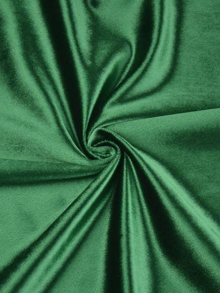 63 Inch 96 Inch Whitney Green and Blue Solid Blackout Grommet Velvet Curtains (Color: Bangladesh Green)