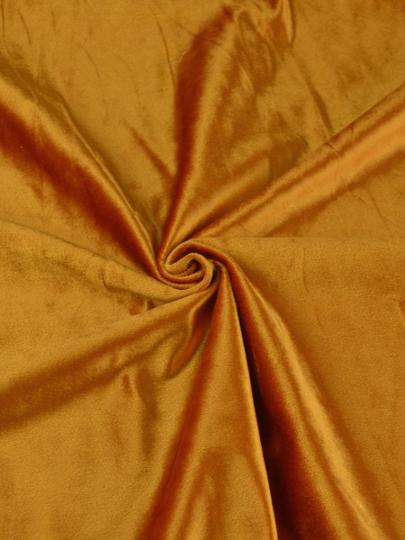 Whitney Brown Solid Blackout Grommet Velvet Curtains 63 Inch 96 Inch Curtains | CheeryCurtains (Color: Deep Carrot Orange)