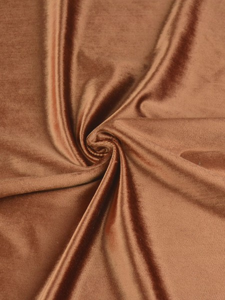 Whitney Brown Solid Blackout Grommet Velvet Curtains 63 Inch 96 Inch Curtains | CheeryCurtains (Color: Windsor Tan)