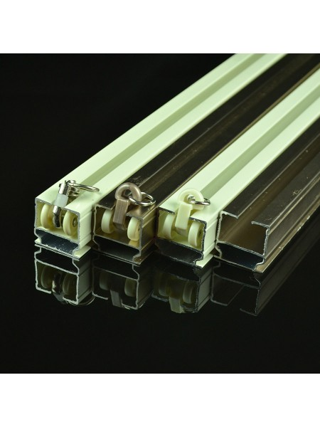 Chr7924 Ivory Wall Mounted Triple Curtain Tracks And Rails