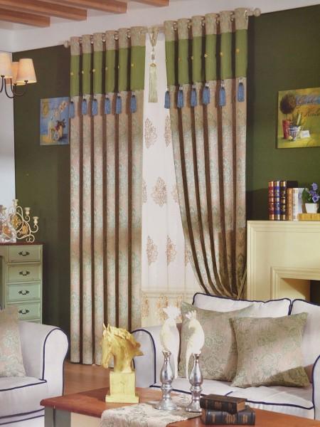 angel jacquard european style floral chenille custom made curtains