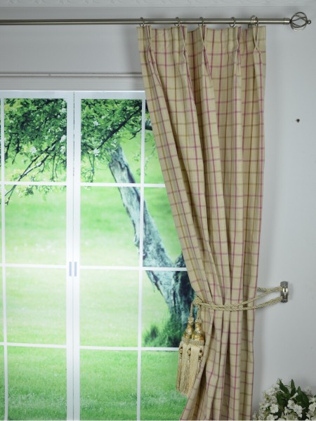 Curtains Ideas blackout pinch pleat curtains : Yarn Dyed Small Plaid Blackout Double Pinch Pleat Curtains