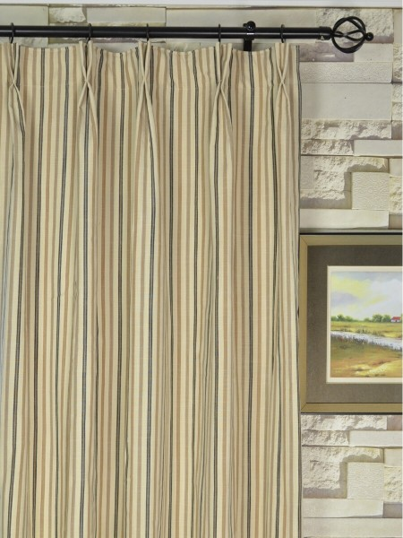 striped blackout double pinch pleat extra long curtains 108 120 inch panels cheery curtains. Black Bedroom Furniture Sets. Home Design Ideas