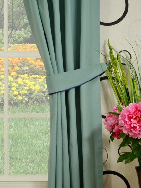 Moonbay Plain Versatile Pleat Cotton Curtains Decorative Tiebacks