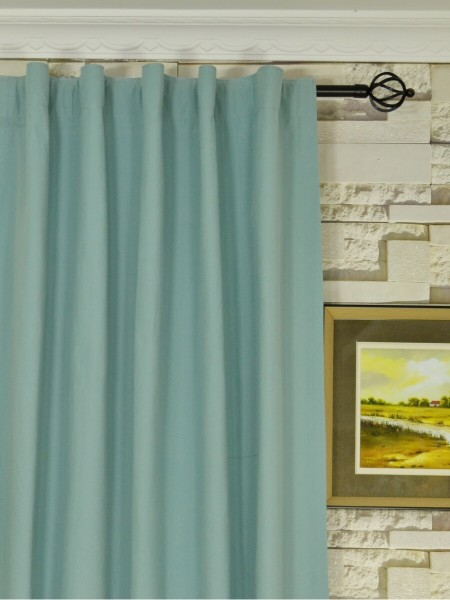 Moonbay Plain Back Tab Cotton Curtains Heading Style