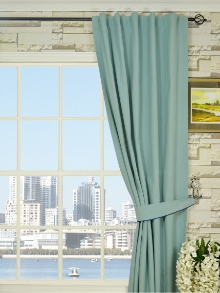 Moonbay Plain Back Tab Cotton Curtains