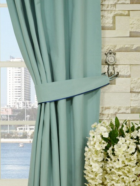 Moonbay Plain Back Tab Cotton Curtains Decorative Tiebacks