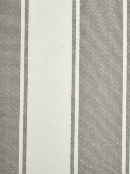 Moonbay Stripe Back Tab Cotton Curtains (Color: Ecru)