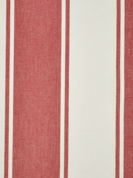 Moonbay Stripe Back Tab Cotton Curtains (Color: Cardinal)