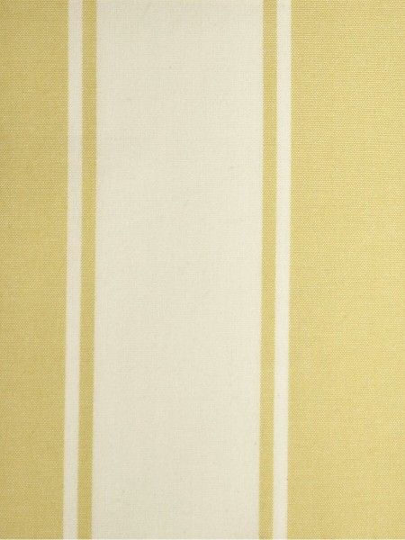 Moonbay Stripe Back Tab Cotton Curtains (Color: Golden yellow)