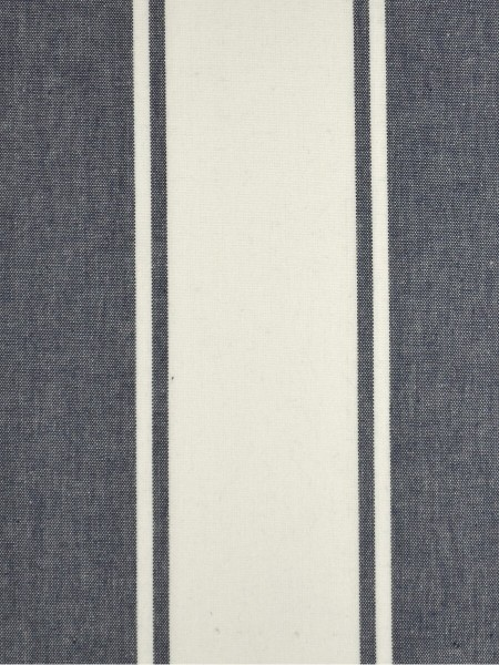 Moonbay Stripe Back Tab Cotton Curtains (Color: Duke blue)