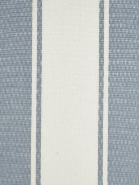 Moonbay Stripe Back Tab Cotton Curtains (Color: Sky blue)